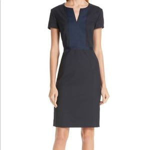 Boss Deriba Short-Sleeve Mini-Check Dress